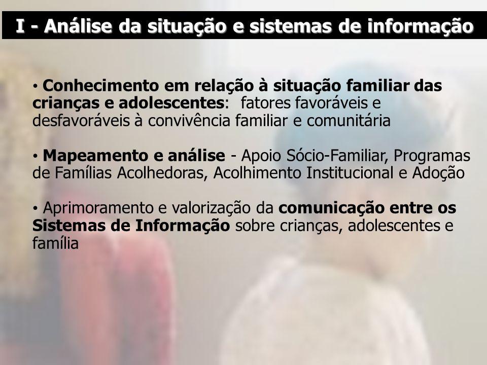 I - Análise da situação e sistemas de informação