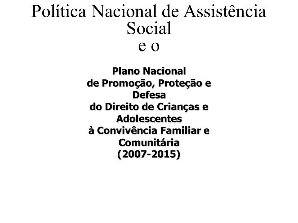 Política Nacional de Assistência Social e o