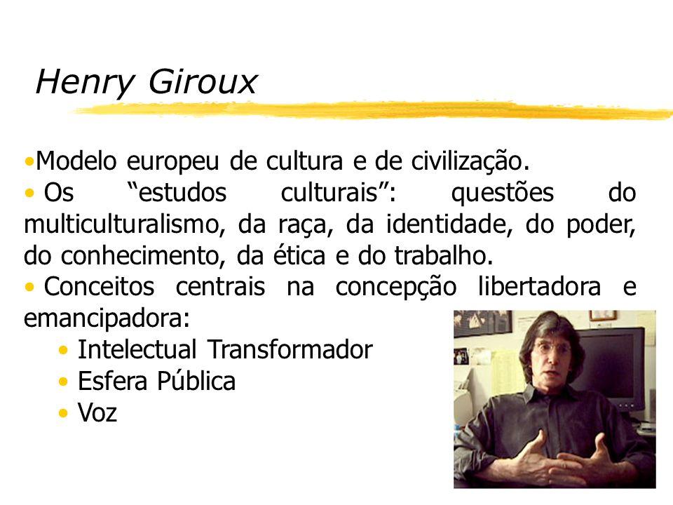 Henry Giroux Modelo europeu de cultura e de civilização.