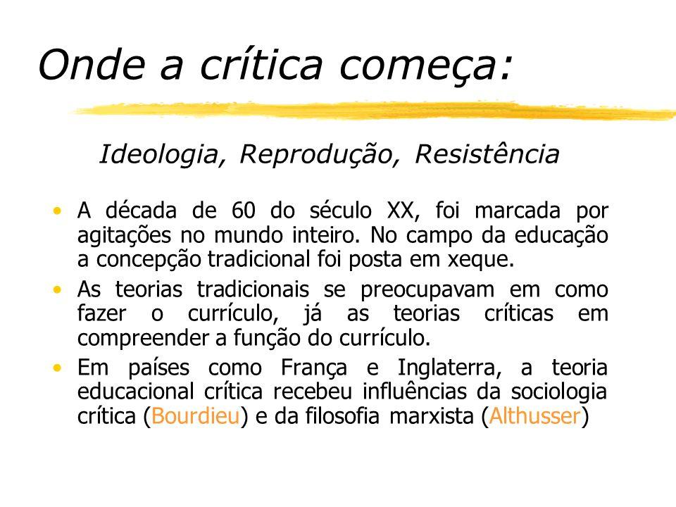 Ideologia, Reprodução, Resistência