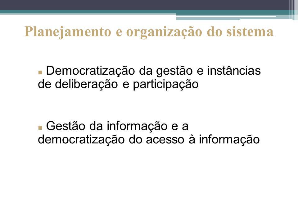 Planejamento e organização do sistema