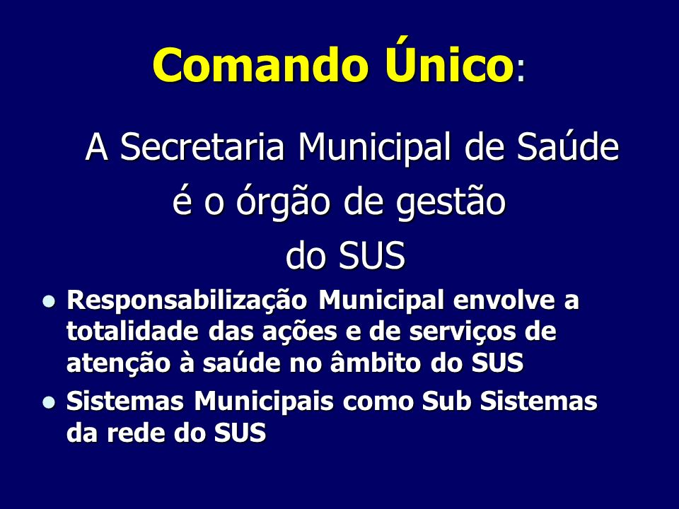 A Secretaria Municipal de Saúde