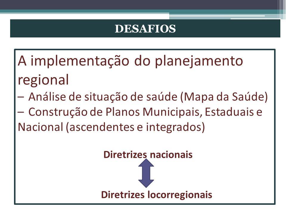 A implementação do planejamento regional