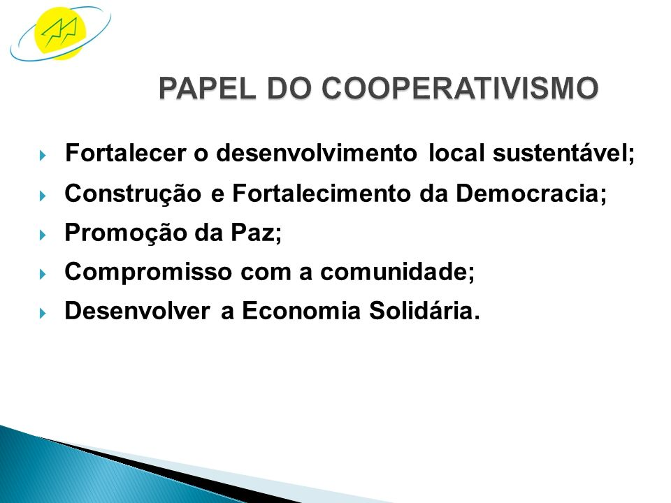PAPEL DO COOPERATIVISMO