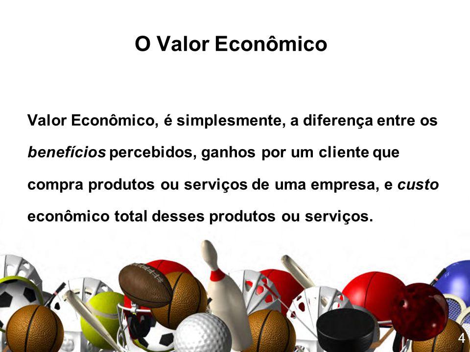 O Valor Econômico Valor Econômico, é simplesmente, a diferença entre os. benefícios percebidos, ganhos por um cliente que.