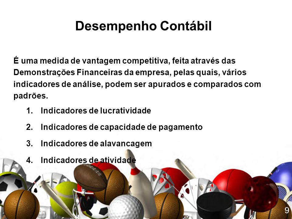 Desempenho Contábil É uma medida de vantagem competitiva, feita através das. Demonstrações Financeiras da empresa, pelas quais, vários.
