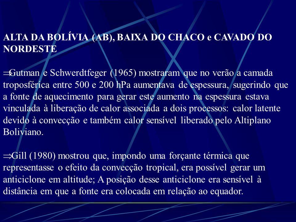 ALTA DA BOLÍVIA (AB), BAIXA DO CHACO e CAVADO DO NORDESTE