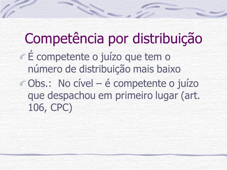 Competência por distribuição