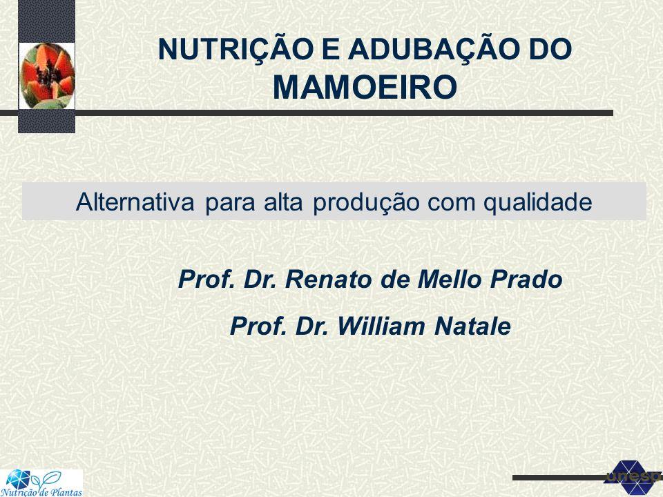 NUTRIÇÃO E ADUBAÇÃO DO MAMOEIRO Prof. Dr. Renato de Mello Prado