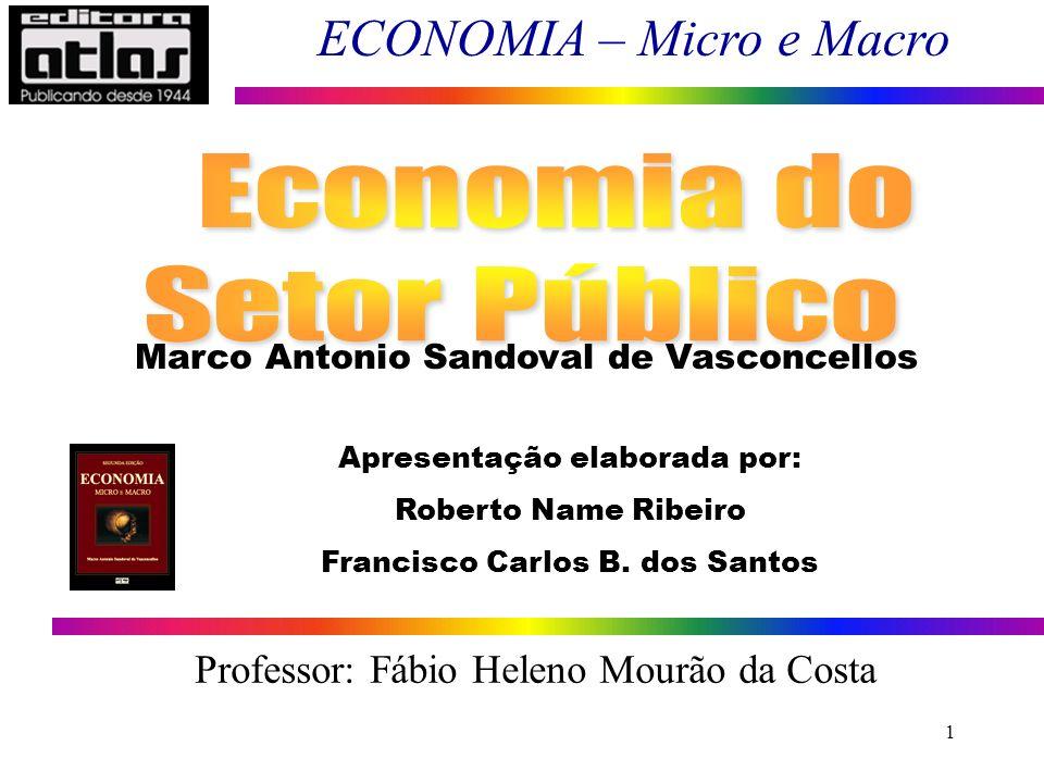 Economia do Setor Público Professor: Fábio Heleno Mourão da Costa