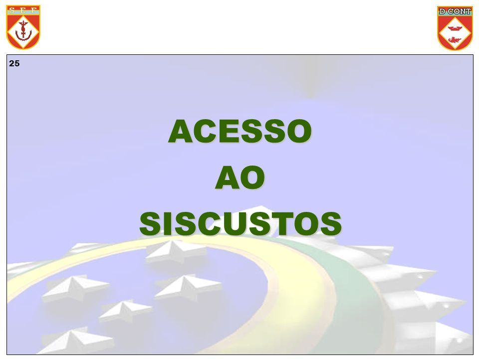 ACESSO AO SISCUSTOS