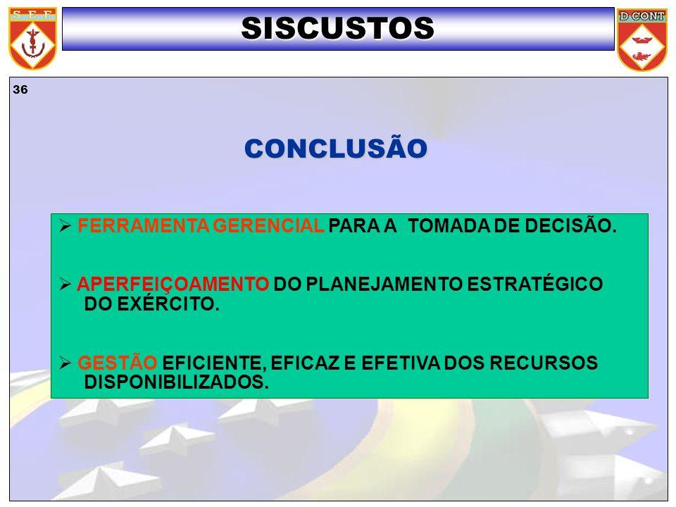 SISCUSTOS CONCLUSÃO FERRAMENTA GERENCIAL PARA A TOMADA DE DECISÃO.