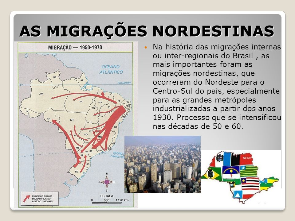 AS MIGRAÇÕES NORDESTINAS
