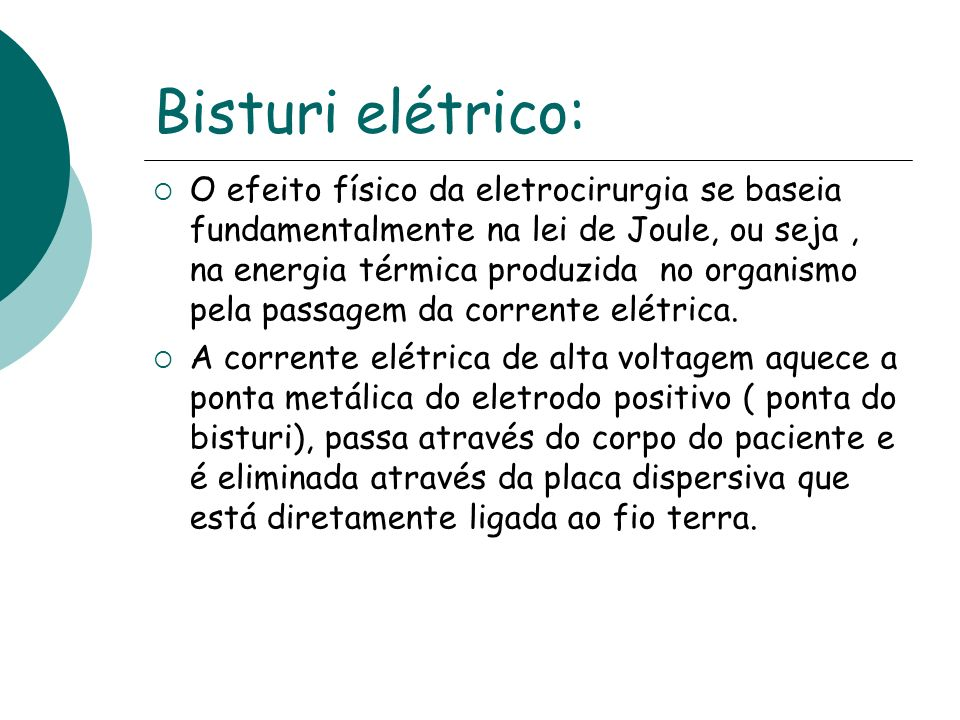 Bisturi elétrico: