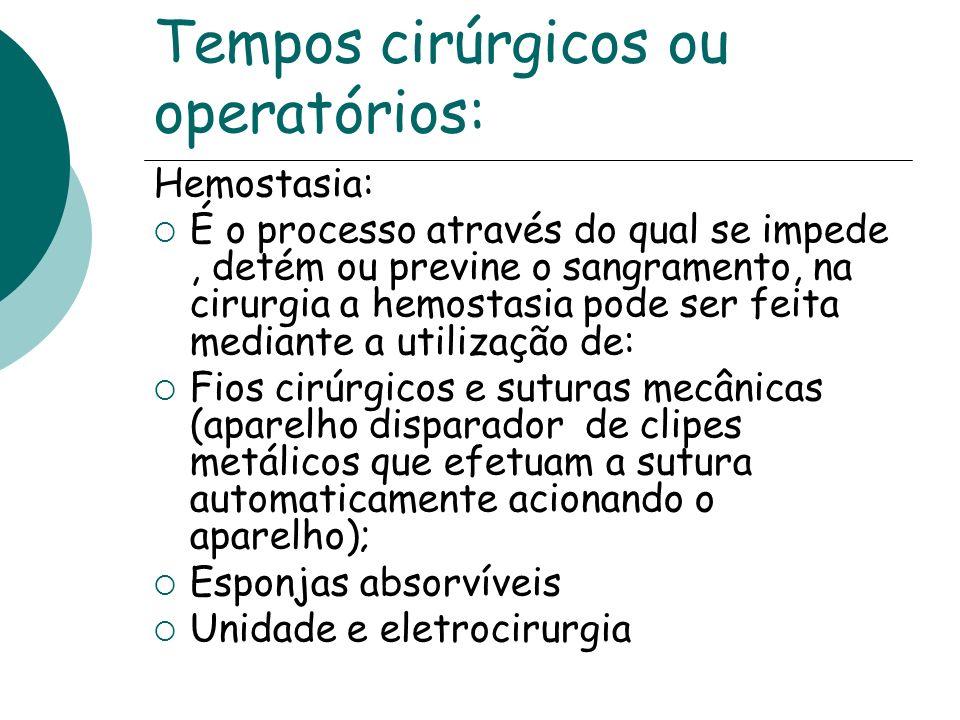 Tempos cirúrgicos ou operatórios: