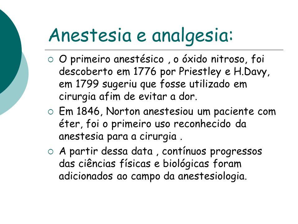Anestesia e analgesia: