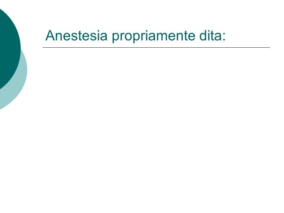 Anestesia propriamente dita: