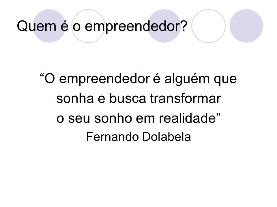 Quem é o empreendedor O empreendedor é alguém que