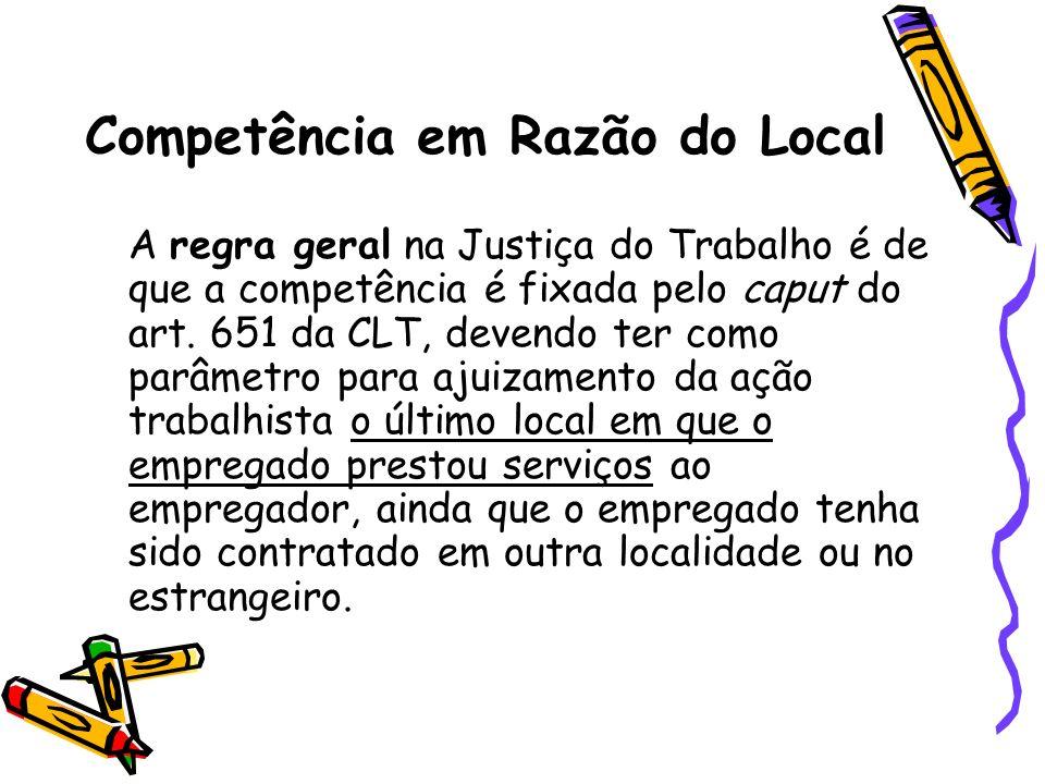 Competência em Razão do Local