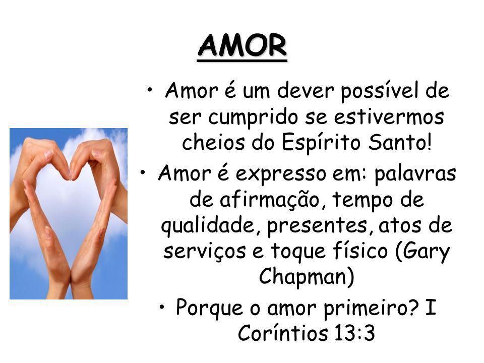 Porque o amor primeiro I Coríntios 13:3