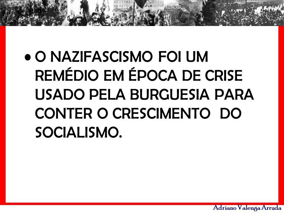 O NAZIFASCISMO FOI UM REMÉDIO EM ÉPOCA DE CRISE USADO PELA BURGUESIA PARA CONTER O CRESCIMENTO DO SOCIALISMO.