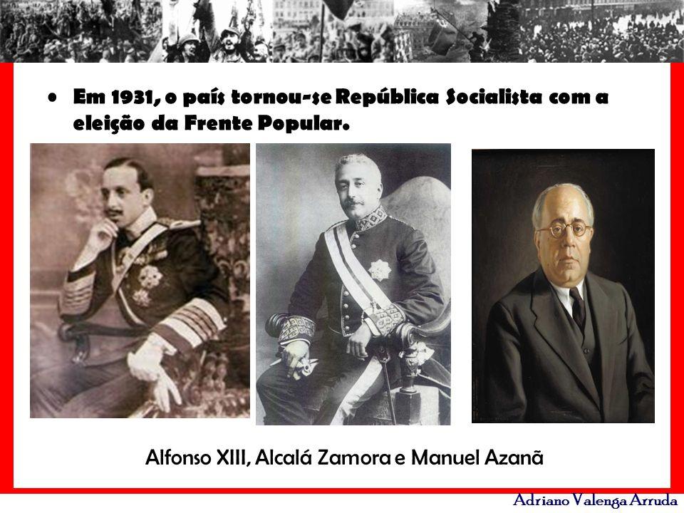 Alfonso XIII, Alcalá Zamora e Manuel Azanã