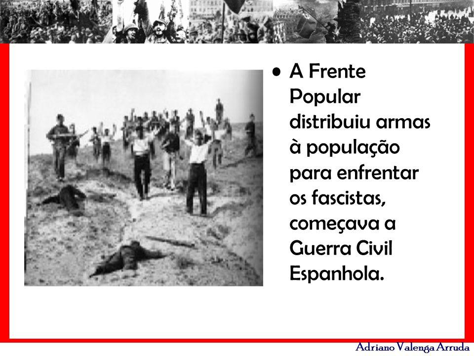 A Frente Popular distribuiu armas à população para enfrentar os fascistas, começava a Guerra Civil Espanhola.
