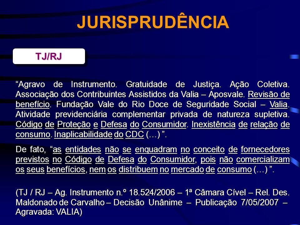 JURISPRUDÊNCIA TJ/RJ.