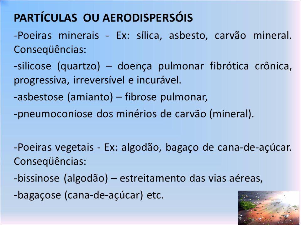 PARTÍCULAS OU AERODISPERSÓIS