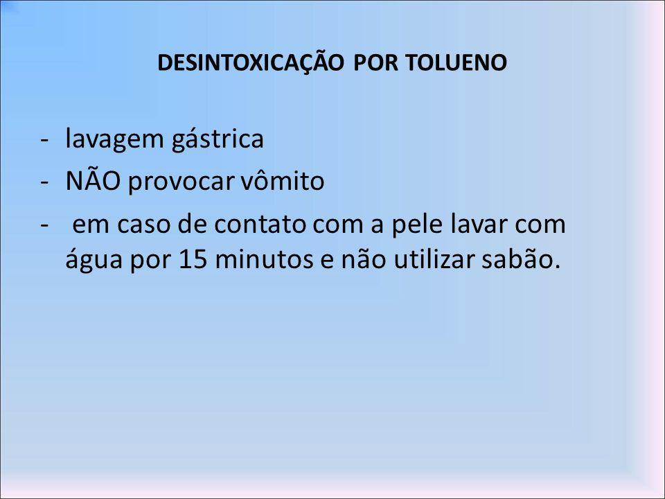 DESINTOXICAÇÃO POR TOLUENO