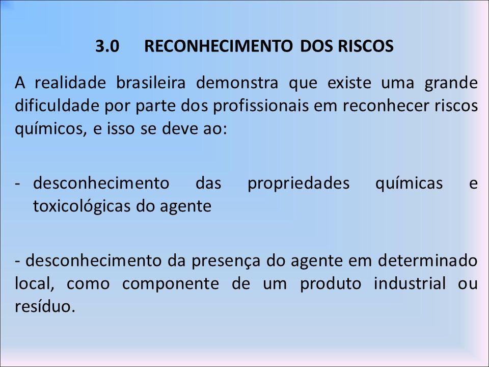 3.0 RECONHECIMENTO DOS RISCOS