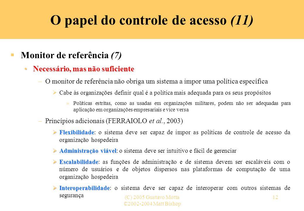 O papel do controle de acesso (11)
