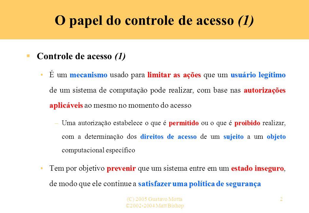 O papel do controle de acesso (1)