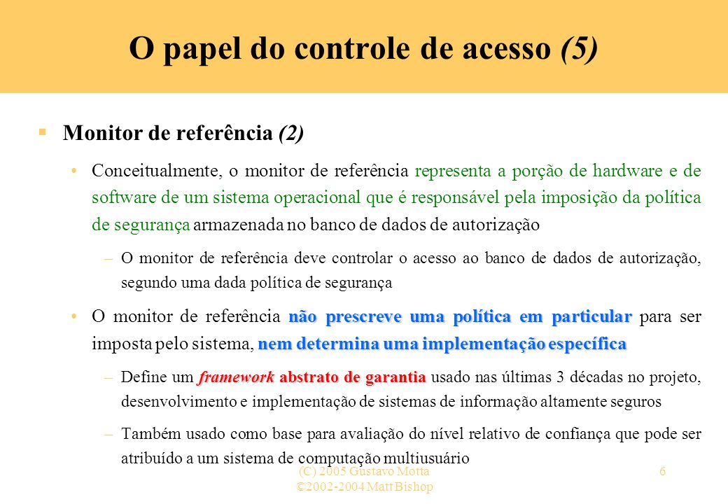 O papel do controle de acesso (5)