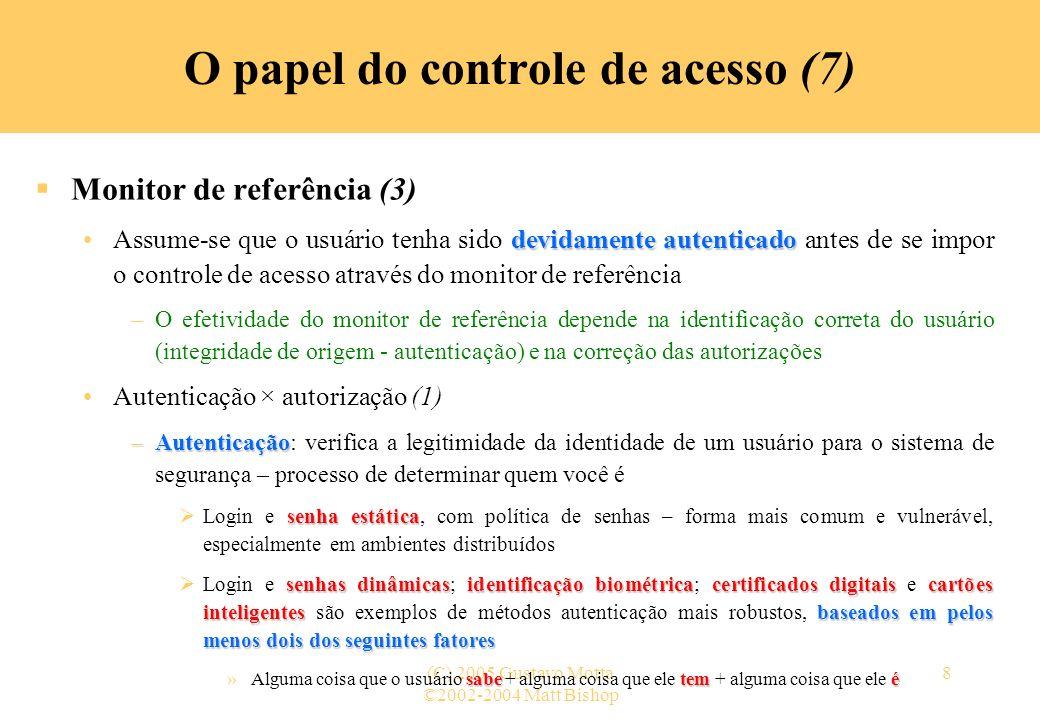 O papel do controle de acesso (7)