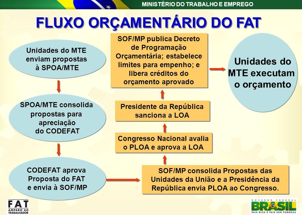 FLUXO ORÇAMENTÁRIO DO FAT