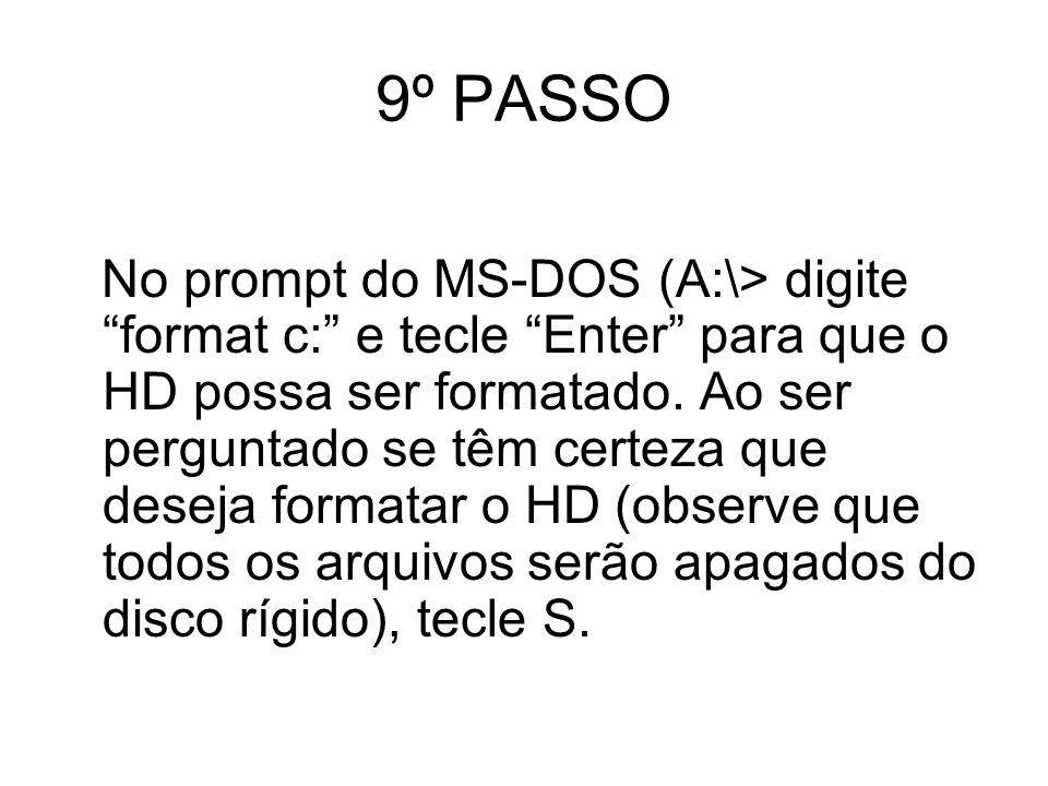 9º PASSO