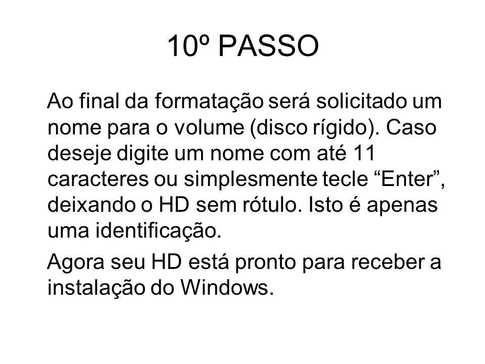 10º PASSO