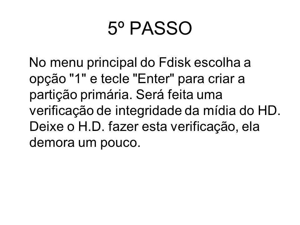 5º PASSO