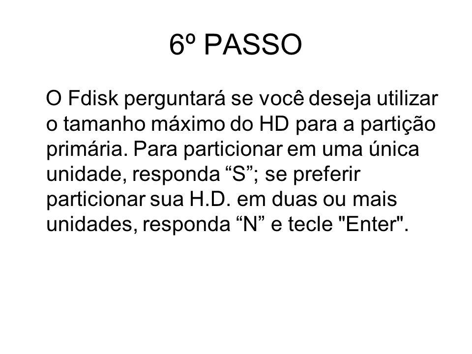 6º PASSO