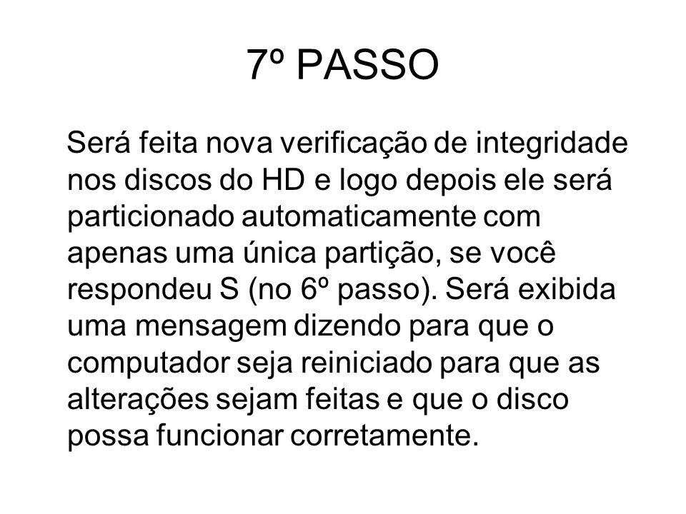7º PASSO