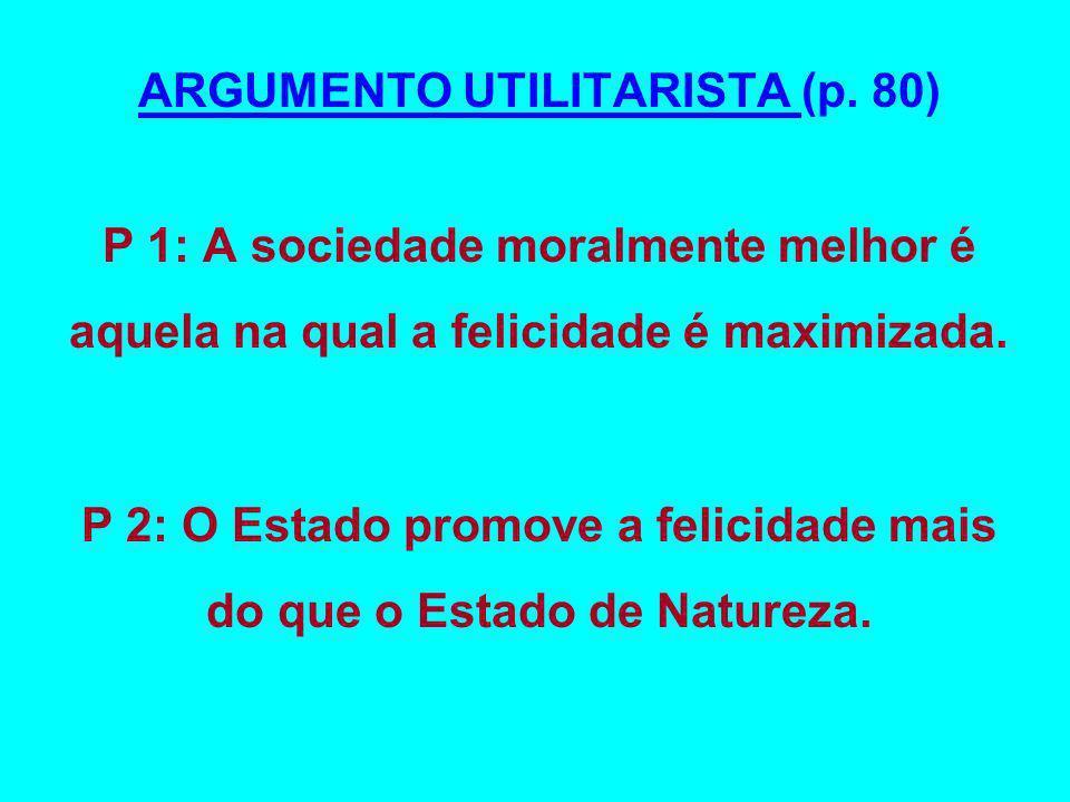 ARGUMENTO UTILITARISTA (p. 80)
