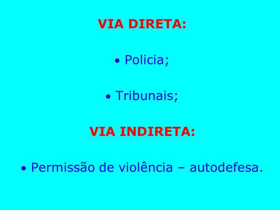  Permissão de violência – autodefesa.