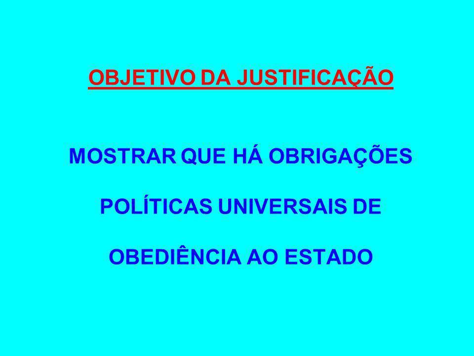 OBJETIVO DA JUSTIFICAÇÃO