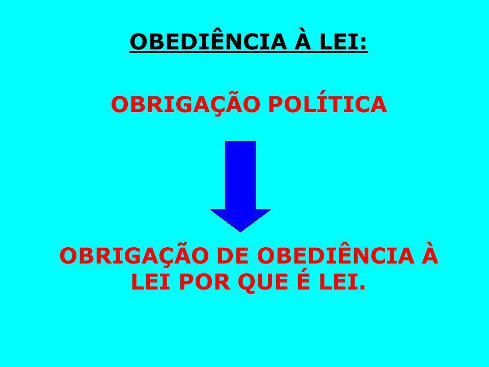 OBRIGAÇÃO DE OBEDIÊNCIA À LEI POR QUE É LEI.