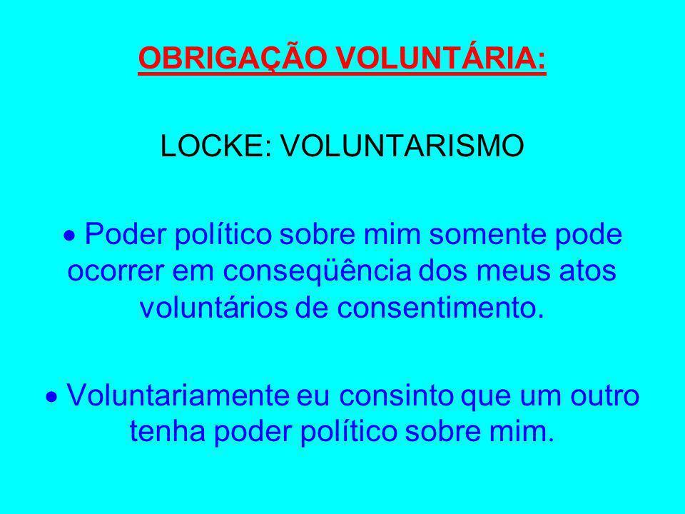 OBRIGAÇÃO VOLUNTÁRIA: