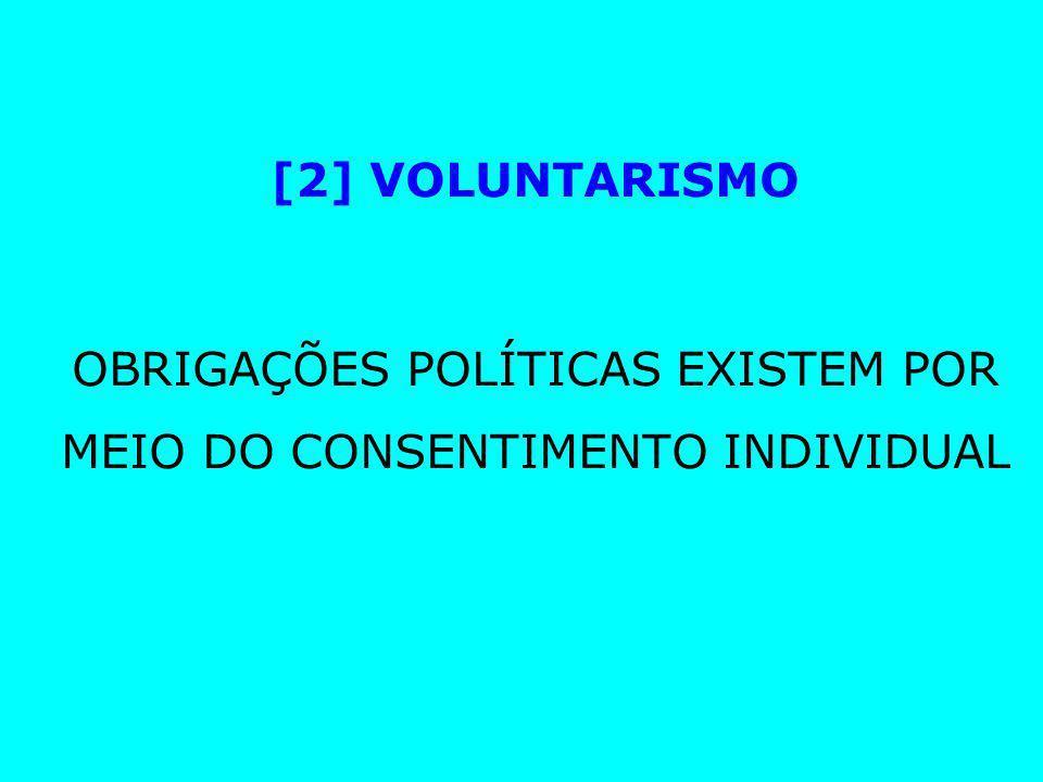 OBRIGAÇÕES POLÍTICAS EXISTEM POR MEIO DO CONSENTIMENTO INDIVIDUAL