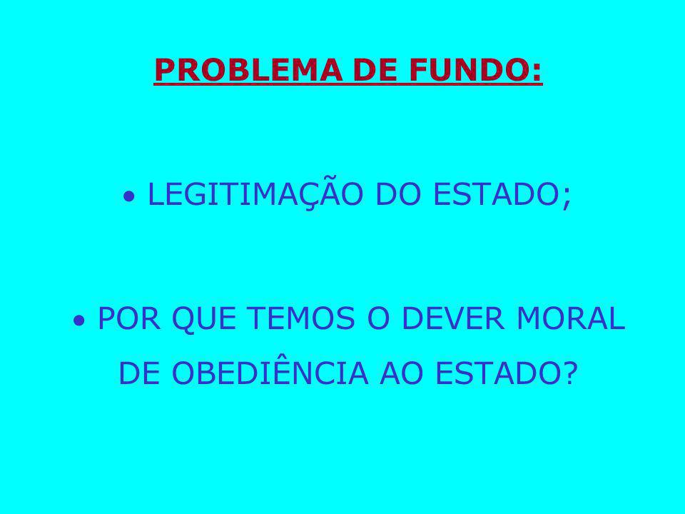  LEGITIMAÇÃO DO ESTADO;