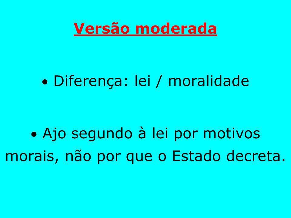  Diferença: lei / moralidade