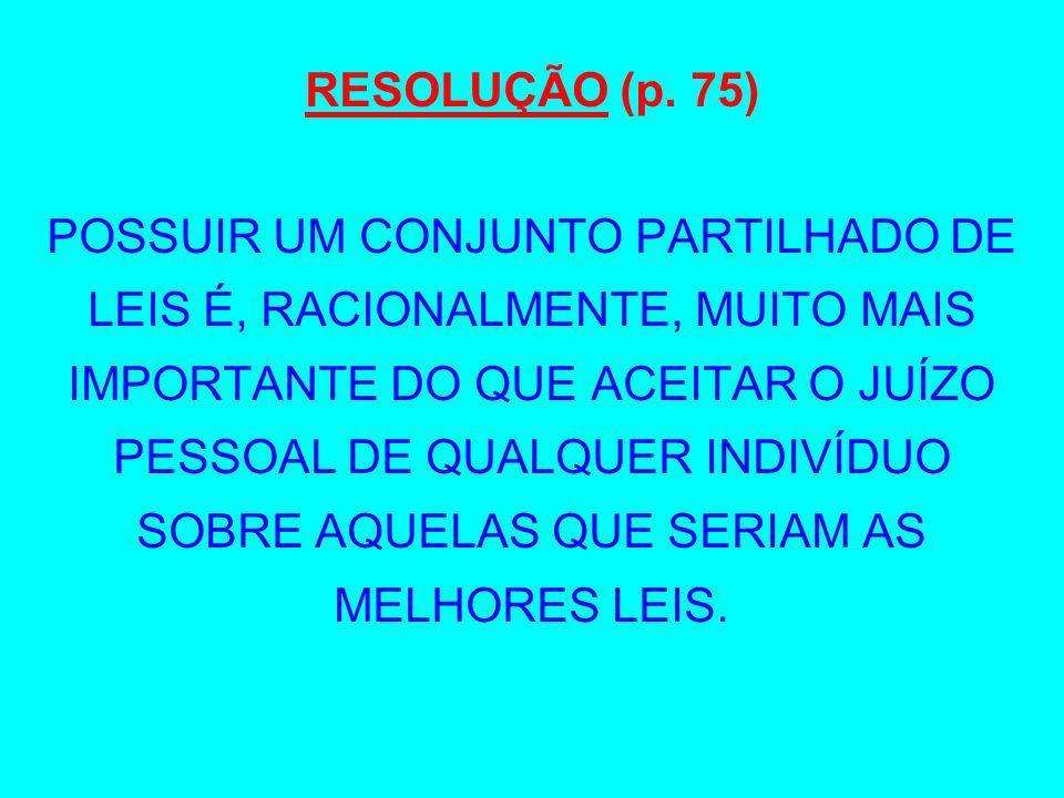 RESOLUÇÃO (p. 75)